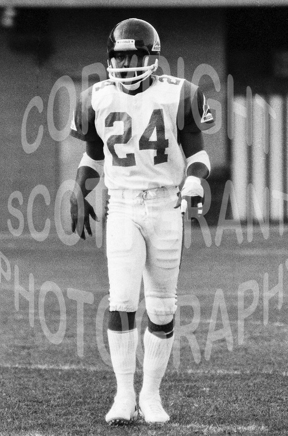 "Billy ""Whiteshoes"" Johnson Montreal Alouettes 1981. Photo F. Scott Grant"