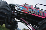 A monster truck gives rides to visitors at the 2008 Shenandoah Valley Hot Air Balloon Festival at Historic Long Branch in Millwood, Virginia.