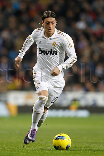 28.01.2012 SPAIN -  La Liga matchday 21th  match played between Real Madrid vs Real Zaragoza at Santiago Bernabeu stadium. The picture shows Mesut Ozil (Real Madrid)