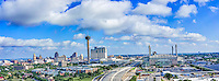 This is another panorama of the San Antonio  cityscape of the city.  This pano has many of the SA iconic structures like the Tower of Americas or Hemisphere as many still call it along with the Alamo Dome, and many of the high-rise hotels in downtown.