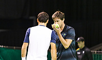 Rotterdam, The Netherlands, 14 Februari 2019, ABNAMRO World Tennis Tournament, Ahoy, Ivan Dodig (CRO) Edouard Roger-Vasselin (FRA) (R),<br /> Photo: www.tennisimages.com/Henk Koster