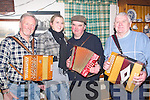 Musicians who took part in the recording of Sean Hurley's Show for Radio Kerry at A Day in The Bog on Friday night were l-r Willie and Siobha?n Hillard, Castlegregory, Sonny Egan, Abbeydorney and Check name on Monday.   Copyright Kerry's Eye 2008