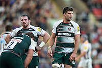Mike Fitzgerald of Leicester Tigers looks on during a break in play. Aviva Premiership match, between Leicester Tigers and Wasps on November 1, 2015 at Welford Road in Leicester, England. Photo by: Patrick Khachfe / Onside Images