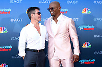LOS ANGELES - MAR 4:  Simon Cowell and Terry Crews at the America's Got Talent Season 15 Kickoff Red Carpet at the Pasadena Civic Auditorium on March 4, 2020 in Pasadena, CA