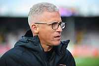 Northampton Town manager Keith Curle during the pre-match warm-up<br /> <br /> Photographer Andrew Vaughan/CameraSport<br /> <br /> Emirates FA Cup First Round - Lincoln City v Northampton Town - Saturday 10th November 2018 - Sincil Bank - Lincoln<br />  <br /> World Copyright &copy; 2018 CameraSport. All rights reserved. 43 Linden Ave. Countesthorpe. Leicester. England. LE8 5PG - Tel: +44 (0) 116 277 4147 - admin@camerasport.com - www.camerasport.com