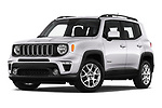 Stock pictures of low aggressive front three quarter view of 2019 JEEP Renegade Latitude 5 Door SUV Low Aggressive