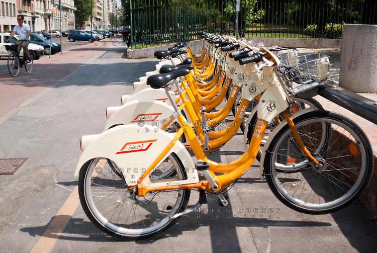 Milano, Milan. Bike sharing