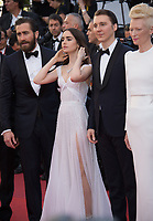 Lily Collins, Jake Gyllenhaal, Paul Dano &amp; Tilda Swinton at the premiere for &quot;Okja&quot; at the 70th Festival de Cannes, Cannes, France. 19 May  2017<br /> Picture: Paul Smith/Featureflash/SilverHub 0208 004 5359 sales@silverhubmedia.com