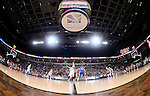 SIOUX FALLS, SD - MARCH 10: The University of South Dakota tips off with South Dakota State University in the first half of the Summit League Championship Tournament game Tuesday at the Denny Sanford Premier Center in Sioux Falls, SD. (Photo by Dave Eggen/Inertia)