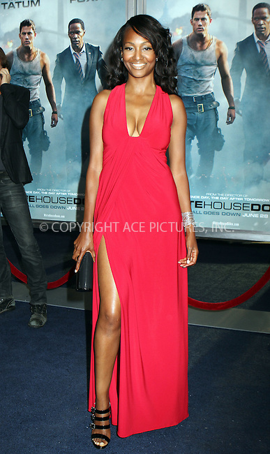 WWW.ACEPIXS.COM<br /> <br /> June 25 2013, New York City<br /> <br /> Nichole Galicia at the premiere of White House Down on June 25 2013 in New York City<br /> <br /> By Line: Nancy Rivera/ACE Pictures<br /> <br /> <br /> ACE Pictures, Inc.<br /> tel: 646 769 0430<br /> Email: info@acepixs.com<br /> www.acepixs.com