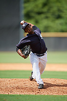 New York Yankees pitcher Anderson Severino (33) delivers a pitch during a Florida Instructional League game against the Pittsburgh Pirates on September 25, 2018 at Yankee Complex in Tampa, Florida.  (Mike Janes/Four Seam Images)