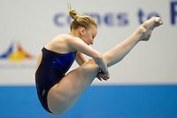 Anastasiia Nebodiga UKR<br /> 3m Springboard Women preliminary<br /> Day 06 14/06/2015  <br /> 2015 Arena European Diving Championships<br /> Neptun Schwimmhalle<br /> Rostock Germany 09-14 June 2015 <br /> Photo Giorgio Perottino/Deepbluemedia/Insidefoto