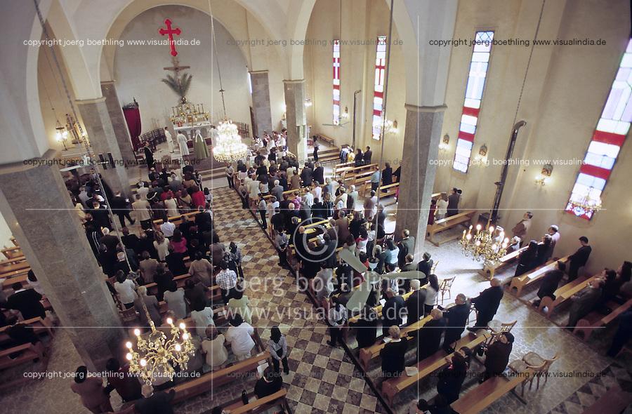 SYRIEN Aleppo, katholischer Gottesdienst in Kathedrale / SYRIA Aleppo, catholic mass in cathedral