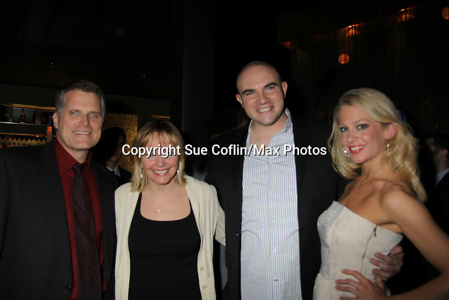 """Robert Newman and wife Britt and Johnny & Anne Horak at the Opening Night of """"Curtains""""  - May 1, 2011 at the Paper Mill Theatre in Millburn, New Jersey. The play runs until May 22, 2011. (Photos by Sue Coflin/Max Photos)"""