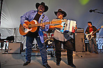 Max Baca and David Farias play hot Tex Mex music at the National Folk Festival in 2011