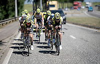 TTT training for Team Mitchelton-Scott preparing for the 2019 Tour de France 'Grand Départ'  in Brussels with Michael Hepburn (AUS/Mitchelton-Scott) & Simon Yates (GBR/Mitchelton-Scott) up front<br /> <br /> ©kramon