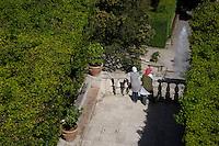 Villa d'Este di Tivoli, patrimonio mondiale dell' UNESCO..Villa d'Este is included in the UNESCO world heritage list.