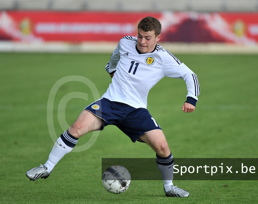 Scotland U19 - Belgium U19 : Ryan Fraser.foto DAVID CATRY / Nikonpro.be