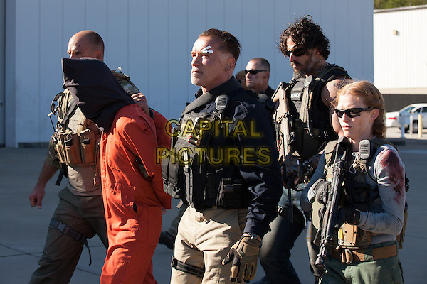 Arnold Schwarzenegger, Joe Manganiello, Mireille Enos<br /> in Sabotage (2014) <br /> *Filmstill - Editorial Use Only*<br /> CAP/FB<br /> Image supplied by Capital Pictures