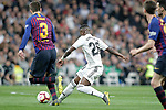 Real Madrid CF's Vinicius Junior and FC Barcelona's Gerard Pique during La Liga match. March 02,2019. (ALTERPHOTOS/Alconada)