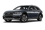 Stock pictures of low aggressive front three quarter view of a 2018 Audi A4 allroad quattro base 5 Door Wagon