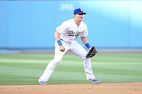 05/13/15 Los Angeles, CA: Los Angeles Dodgers short stop Enrique Hernandez #14 during an MLB game played at Dodger Stadium between the Miami Marlins and The Los Angeles Dodgers. The Marlins defeated the Dodgers 5-4