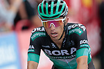 Rafal Majka (POL) Bora-Hansgrohe crosses the finish line at the end of Stage 5 of La Vuelta 2019 running 170.7km from L'Eliana to Observatorio Astrofisico de Javalambre, Spain. 28th August 2019.<br /> Picture: Colin Flockton | Cyclefile<br /> <br /> All photos usage must carry mandatory copyright credit (© Cyclefile | Colin Flockton)