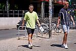 24.06.2020, Trainingsgelaende am wohninvest WESERSTADION,, Bremen, GER, 1.FBL, Werder Bremen Training, im Bild<br /> <br /> <br /> <br /> Milot Rashica (Werder Bremen #07) nach dem Training auf dem Weg zu seinem Dienstwagen - er hatte sich zuvor beim Training verletzt - re Marco Friedl (Werder Bremen #32)<br /> <br /> Foto © Gumz/gumzmedia/nordphoto