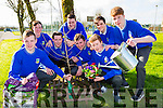 Castleisland Community College students who planted trees and plants around the school for their Young Social Innovators project on Tuesday front row l-r: Patrick Horan, Tomas Murphy, Kevin O'Mahony. Back row: Darren Horan, Jack curran, Diarmaid McCarthy, Darragh Foran