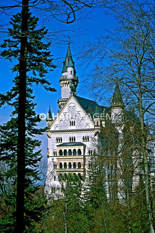 Castelo Neuschawstein em Fussen, Bavaria. Alemanha. 2002. Foto de Adri Felden.