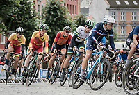 later winner/world champion Benoit Cosnefroy (FRA/AG2R-La Mondiale) racing in the pack with 4 laps to go<br /> <br /> Men Under-23 Road Race<br /> <br /> UCI 2017 Road World Championships - Bergen/Norway