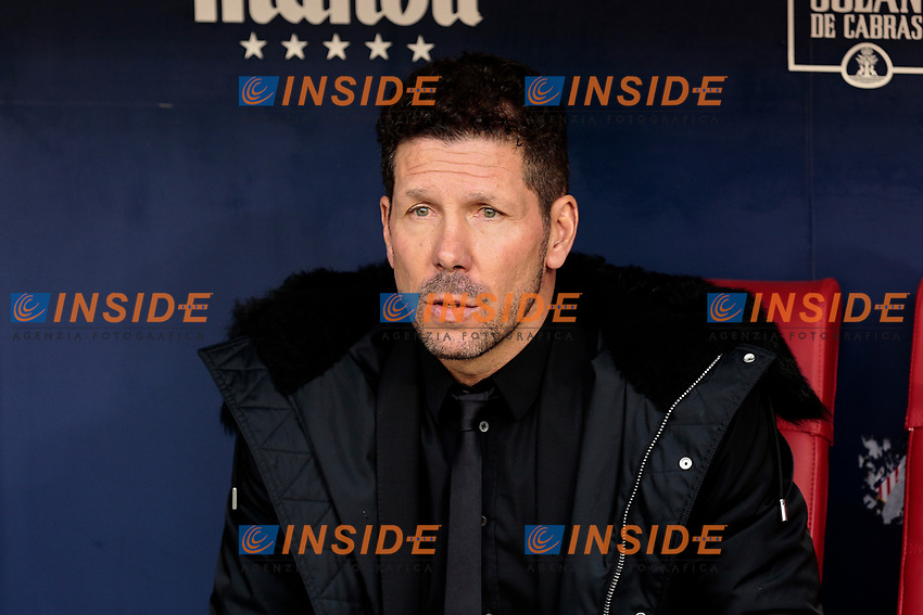 Atletico de Madrid's coach Diego Pablo Simeone during La Liga match between Atletico de Madrid and Real Madrid at Wanda Metropolitano Stadium in Madrid, Spain. February 09, 2019. (ALTERPHOTOS/A. Perez Meca)<br /> Liga Campionato Spagna 2018/2019<br /> Foto Alterphotos / Insidefoto <br /> ITALY ONLY