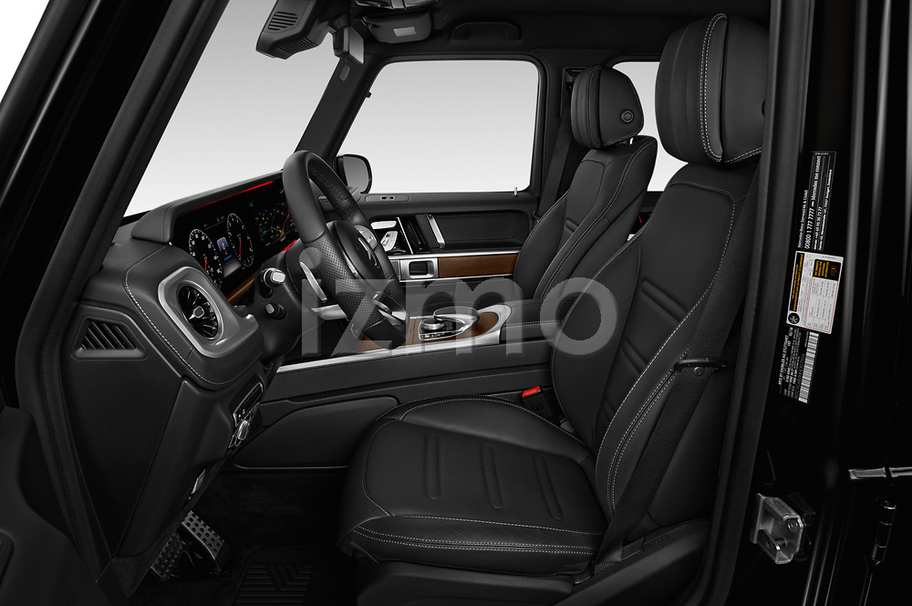 Front seat view of a 2019 Mercedes Benz G-Class G-550 5 Door SUV front seat car photos