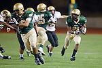 Manhattan Beach, CA 10/29/10 - Deon Morris (Mira Costa # 21) in action during the Peninsula vs Mira Costa Varsity football game at Mira Costa High School.