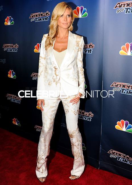 NEW YORK CITY, NY, USA - AUGUST 13: Heidi Klum arrives at the 'America's Got Talent' Season 9 Post Show Red Carpet held at Radio City Music Hall on August 13, 2014 in New York City, New York, United States. (Photo by Celebrity Monitor)