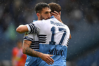 Ciro Immobile of Lazio celebrates with Danilo Cataldi after scoring a goal during the Serie A 2018/2019 football match between SS Lazio and Spal at stadio Olimpico, Roma, November 04, 2018 <br />  Foto Andrea Staccioli / Insidefoto