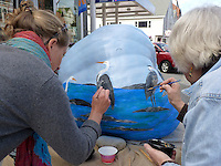 Pumpkin painting, Damariscotta Maine, USA
