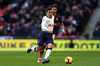 Ayoze Perez of Newcastle United and Harry Winks of Tottenham Hotspur during Tottenham Hotspur vs Newcastle United, Premier League Football at Wembley Stadium on 2nd February 2019