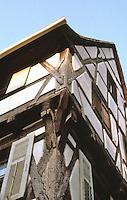 Riquewihr: Fachwerk facade.