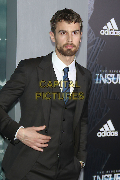 NEW YORK, NY - MARCH 16: Theo james at the New York premiere of The Divergent Series: Insurgent at the Ziegfeld Theatre in New York City on March 16, 2015. <br /> CAP/MPI/RW<br /> &copy;RW/MPI/Capital Pictures