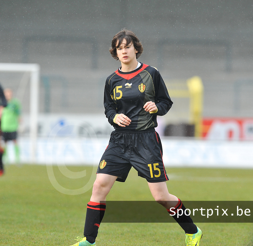UEFA Women's Under 17 Championship - Second Qualifying round - group 1 : Switzerland - Belgium  : .Johanna Koenig.foto DAVID CATRY / Vrouwenteam.be