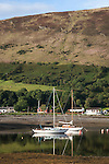 Boats in Lochranza in the Isle of Arran, Scotland