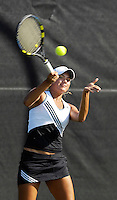 The opening day of the University of Miami Fall Classic tennis tournament at Coral Gables, Florida on Friday, November 10, 2006...Freshman Priscilla Castillo<br />