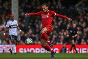 17th March 2019, Craven Cottage, London, England; EPL Premier League football, Fulham versus Liverpool; Virgil van Dijk of Liverpool clears the ball out of Liverpools area