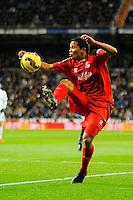 Sevilla's Carlos Bacca during 2014-15 La Liga match between Real Madrid and Sevilla at Santiago Bernabeu stadium in Alcorcon, Madrid, Spain. February 04, 2015. (ALTERPHOTOS/Luis Fernandez) /NORTEphoto.com