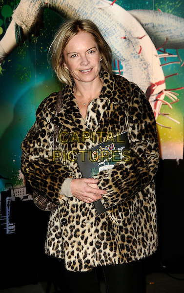 "MARIELLA FROSTRUP.VIP Gala Premiere of Cirque de Soleil -  ""Quidam"" at the Royal Albert Hall, London, England. .January 6th 2009.half length leopard print fur coat jacket.CAP/CAN.©Can Nguyen/Capital Pictures."