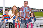 Rory Lally, Ellen Lally, Alice Lally, Kathleen Lally and Eamon Lally from Moyvane enjoying the Listowel Races on Sunday