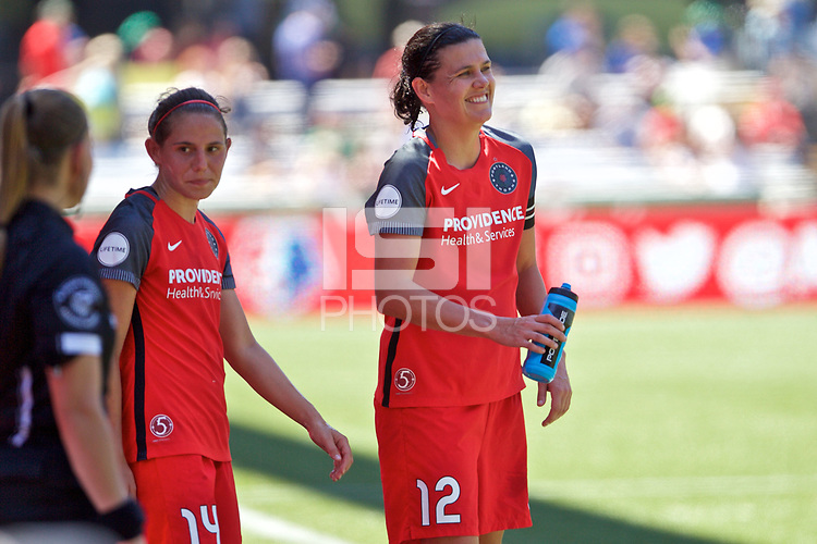 Portland, OR - Saturday August 05, 2017: Christine Sinclair during a regular season National Women's Soccer League (NWSL) match between the Portland Thorns FC and the Houston Dash at Providence Park.