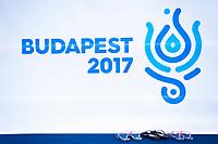 Logo of Budapest 2017<br /> Synchronised swimming , Synchro<br /> 12/07/2017 <br /> XVII FINA World Championships Aquatics<br /> City Park - Varosliget Lake<br /> Budapest Hungary July 14th - 30th 2017 <br /> Photo @ Giorgio Perottino/Deepbluemedia/Insidefoto