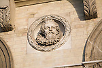 King James 1, Royal roundel portraits on Great Eastern hotel building Harwich, Essex, England